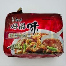 红烧牛肉面(5连包)