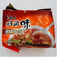 香辣牛肉面(5连包)